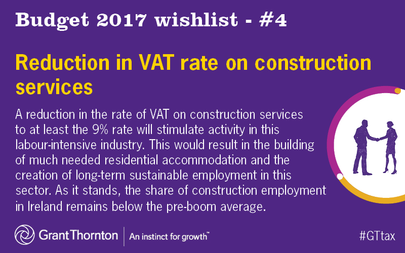Reduction in VAT rate on construction services