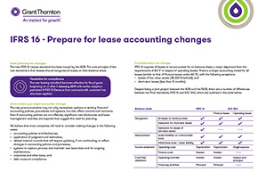 IFRS 16 - Prepare for lease accounting changes - Grant Thornton