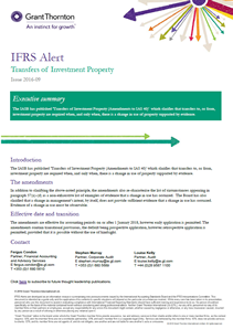 IFRS: Transfers of Investment Property