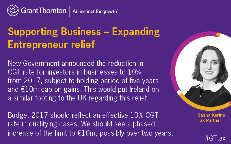 Supporting Business - expanding entrepreneur relief
