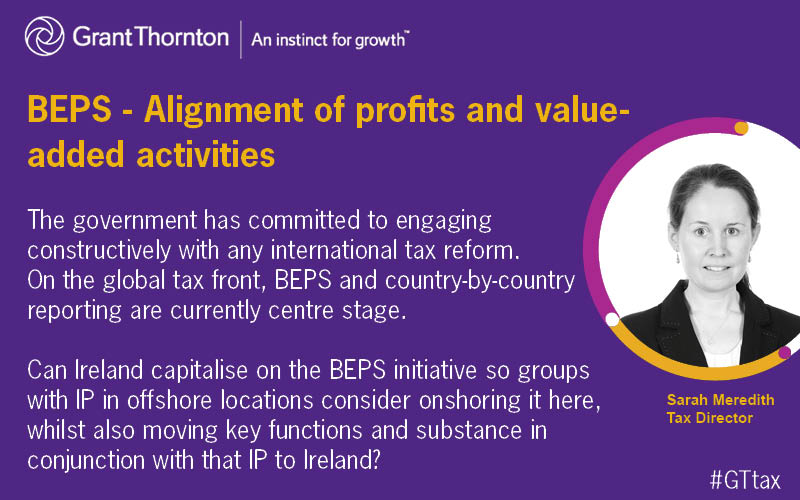 BEPS alignment of profits and value added activities