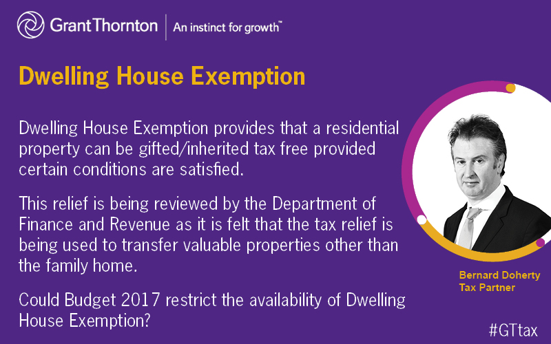 Dwelling house exemption
